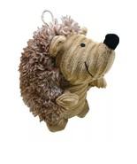 Cute Plush Hedge Hog Dog Sqeak Toy Beige Belly - $8.90