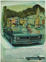 Vintage 1964 Magazine Ad Pontiac Grand Prix Serene Uncluttered Styling Is Enough - $5.93