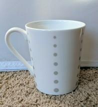 Mikasa Cheers Dots Coffee Tea Mug Cup White Porcelain 12 oz HK280 - $11.36