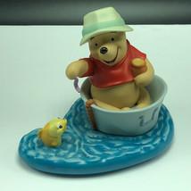 Winnie Pooh Friends Figurine Walt Disney Porcelain Enesco Fishing Best Kind Days - $59.35