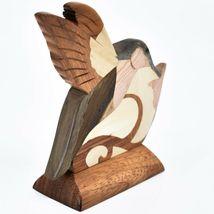 Northwoods Handmade Wooden Parquetry Hummingbird Bird Sculpture Figurine image 5