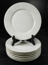 Eight Rosenthal  Salad Plates * White Velvet Pattern Gold Trim - $31.91