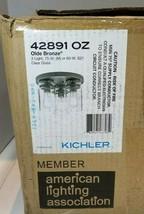 Kichler Olde Bronze 3 Light Clear Glass Lighting - 42891 OZ - $175.75
