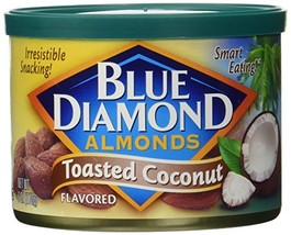 Blue Diamond Flavored Almonds, Toasted Coconut 6-ounce Can Pack of 2 - $16.75
