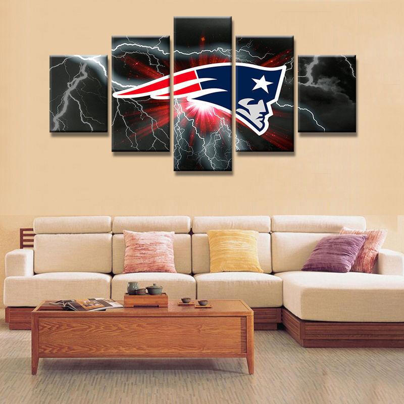 Pcs new england patriots canvas prints painting wall art