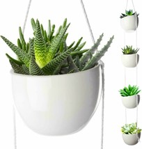 Lot of 5 of 4 Tier Plant Hanging Holder Ceramic Planter Wall Ceiling Her... - $69.30