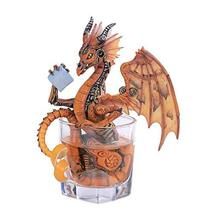 Pacific Giftware PT Drinks and Dragons Series Steampunk Winged Dragon Resin Figu - $35.00