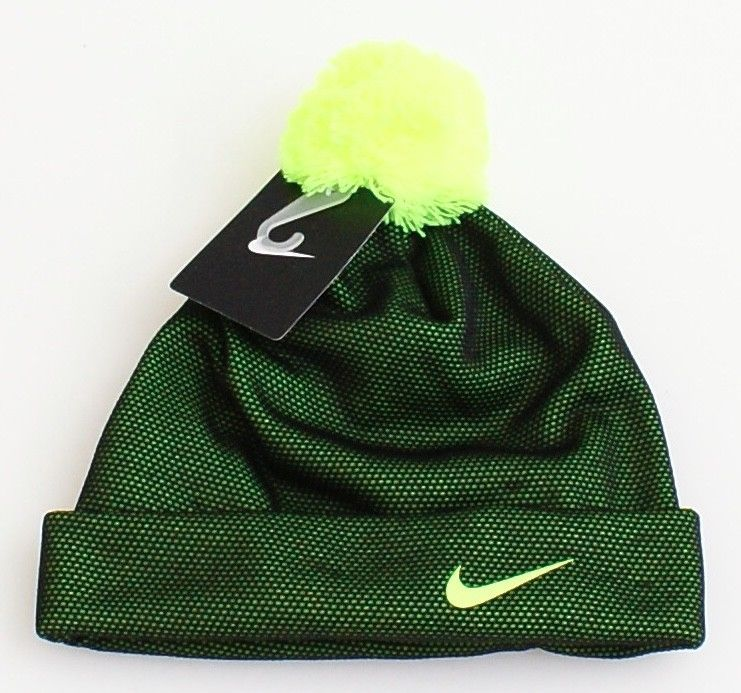 1ccacccfc94 57. 57. Previous. Nike Black   Volt Cuff Beanie Skull Cap with Pom Pom  Youth Boy s 8-20