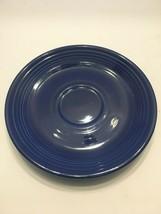 Fiesta Original Cobalt Blue Saucers 6 in Vintage Fiestaware Homer Laughlin - $6.30