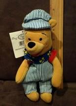 "New Disney Mini Bean Bag Choo Choo Pooh 8"" Winnie The Pooh Plush Toy Bear - Mwmt - $5.99"
