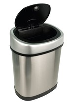 3.2 Gal  Automatic Trash Can Motion Sensor Touchless Stainless Steel Gar... - $40.92