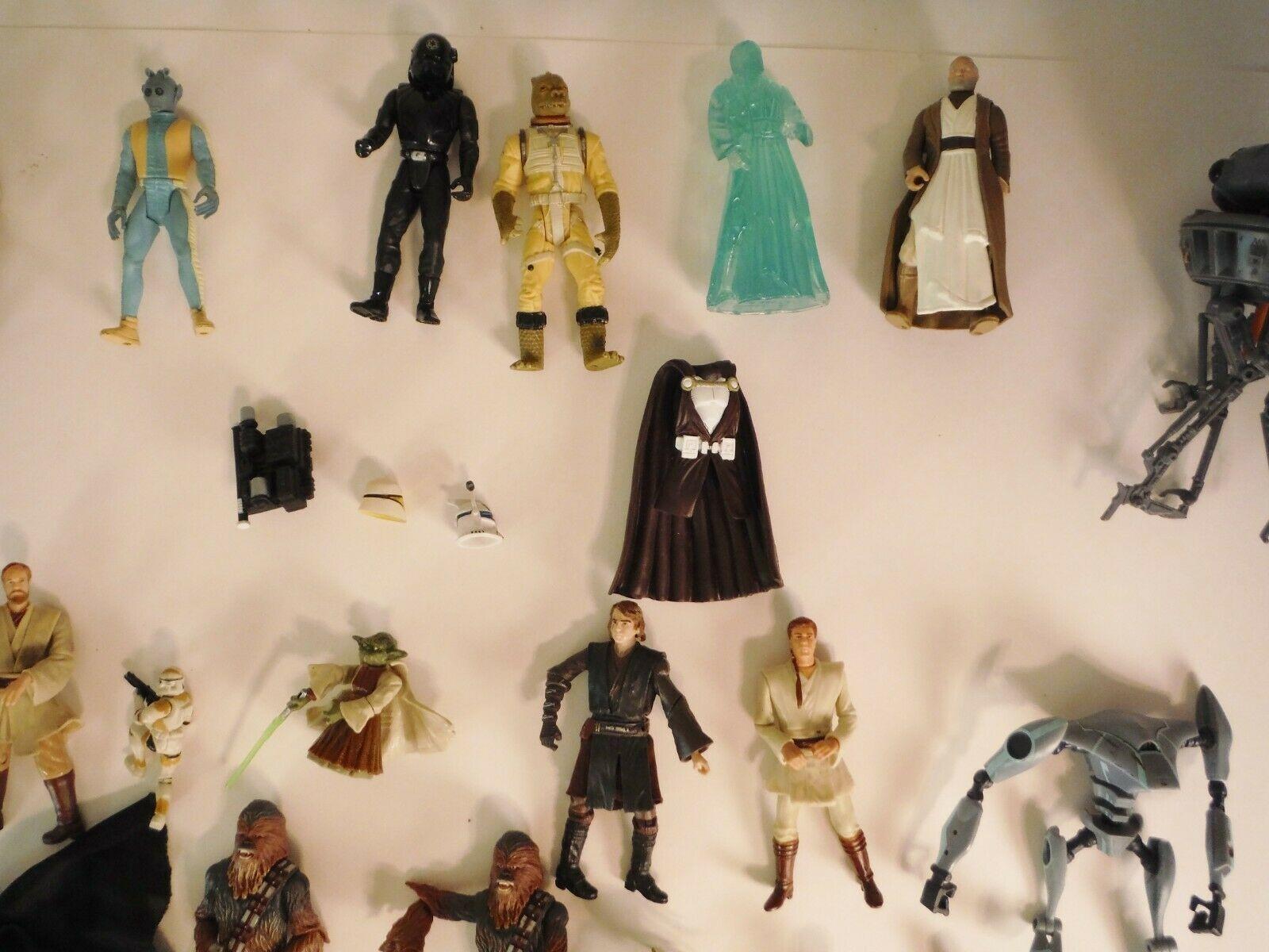 Star Wars Action Figure Lot of 29  Kenner Hasbro Darth Vader C3PO  More