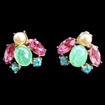 Vintage Jelly Belly Bug Fly Figural Signed Coro Screw back Earrings - $53.22