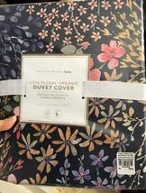 Pottery Barn Teen Livia Duvet Cover Set Blue Pink Twin 1 Standard Sham F... - $112.96