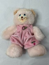 Vintage 1998 Fisher Price Briarberry Collection Sarahberry Pink Bear Plush - $24.19