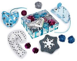 Cat Toy Holiday Gift Box 10 Piece Set Kitty Entertainment Pack BULK LOTS TOO!(2