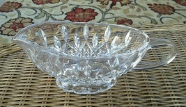 """Waterford Crystal Lismore Gravy Sauce Boat Footed 8.75"""" Mint - $78.50"""