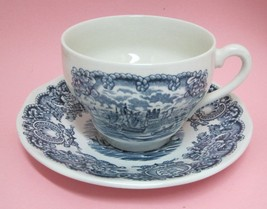 Historical Ports of England Blue Tea Coffee Cup & Saucer Port of Hull NICE! - $18.32