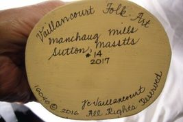 Vaillancourt Folk Art Plum Father Christmas Signed Judi image 6