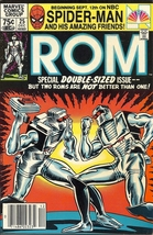 (CB-15} 1981 Marvel Comic Book: ROM #25 { double sized } - $7.00