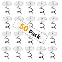 Upholstery Twisty Pins With Clear Heads - 50 Pack - Holds Bedskirts, (50... - $13.23