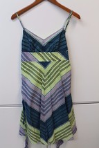W12715 Womens OLD NAVY Teal/Purple/Green Cotton SUN DRESS A Line SMALL - $28.96