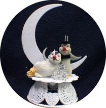Happy Penguin Kickin Feet Wedding Cake topper funny top nature Animal Moon 1 - $44.45