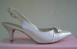 New Bandolino Black Gold Beige Leather Slingback Pumps Size 8 M Size 7.5 M $69 - $32.33+