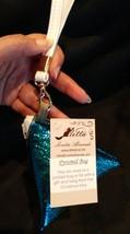 Pyramid Bag/Wristlet/Gift Bag - Blue Metallic sparkle shiny fabric bag image 3