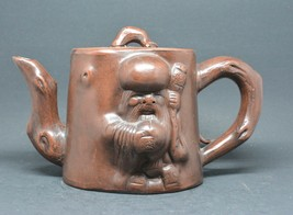 Chinese Yixing Pottery Figural Teapot ~ 5 inches tall ~ - $49.49