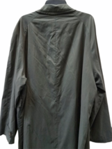 """Vintage Giorgio Armani Long Olive Green Trench Rain Coat 54"""" Chest Made in Italy image 7"""