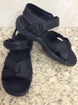 Timberland Men's Leather Sandals- Size: 9M- Black - $39.59