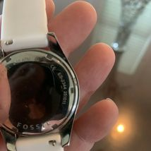 Fossil Ladies' Silicone Comfort Band Multifunction Watch White NEW BATTERY image 4