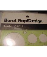 NOS Berol Drawing Template RapiDesign R-40 Circles - $7.90