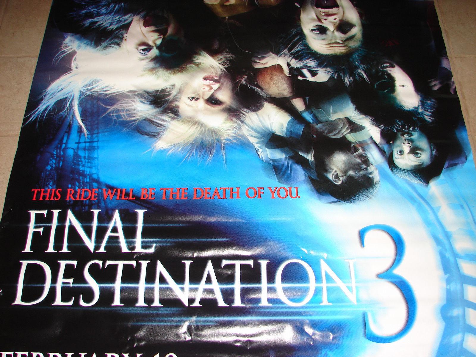 2006 FINAL DESTINATION 3 Original Movie Vinyl Theater Lobby Banner 58x90 (24)