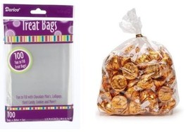 Treat Bags Weddings Party Birthday 3.75 x 6 inches 100 Bags Clear   - $5.94