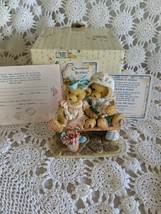 Cherished Teddies Tracie & Nicole Figure Side By Side With Friends - $9.69