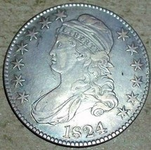 1824 Silver Capped Bust Half Dollar - $321.75