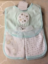 Baby Balloons 3 Pc Bib and Burp Cloth Set, Mint  Color. - $9.95