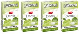 Läkerol (Lakerol)  Dents Apple Swedish Xylitol Candies 36g * 4 pack  5 oz - $11.88