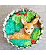 Santa's Club Soda Christmas Bambi Deer Keepsake Ornament 1994 Hallmark C... - $19.79