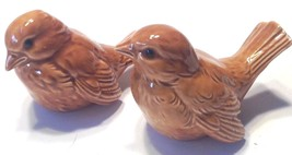 Bird Figurine Set of  2 Goebel Germany Brown CV73 & CV74 - $21.78