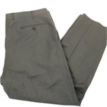 Canali Tessuto Tan Flat Front Classic Fit 100% Wool Dress Pants Size 38 - $39.59