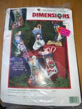 Dimensions 5 CHRISTMAS STOCKING ORNAMENTS Needlepoint Kit # 9106 Opened Kit - $39.59