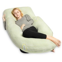 Pregnancy Pillow Bamboo with Detachable Design,U Shaped Full Body Pillow... - $51.99