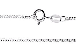 New Precious Italian Anti-Tarnish Sterling Silver strong Curb link Chain... - $18.41