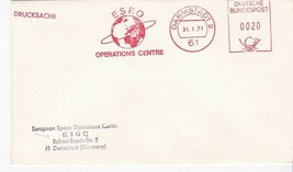 ESRO OPERATIONS CENTRE DARMSTADT 1/31/1971 METER CANCEL - $1.98