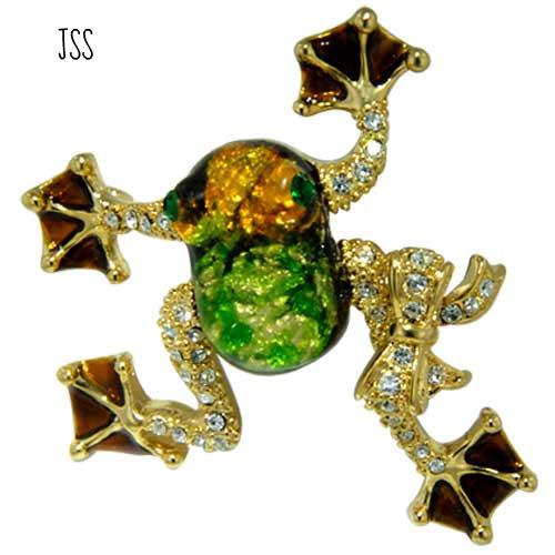 Jss tree frog brooch