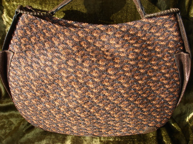 Eric Javits Black & Brown Woven Tote