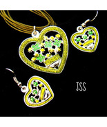 Irish Heart Earrings and Necklace Set - $12.50